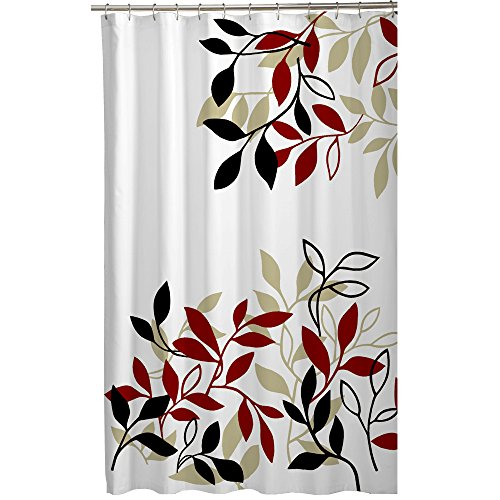 Amazon.com: Maytex Mills Satori Fabric Shower Curtain, Red: Home ...