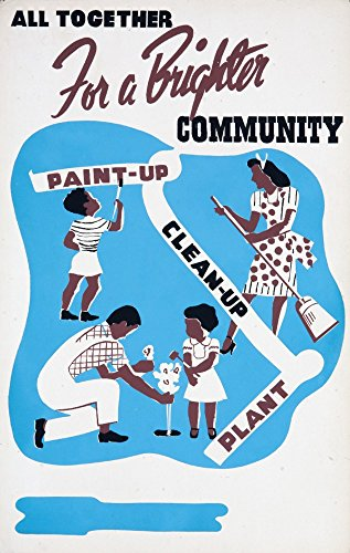 WPA - All Together for a Brighter Community Vintage Poster USA c. 1938 (9x12 Art Print, Wall Decor Travel Poster)