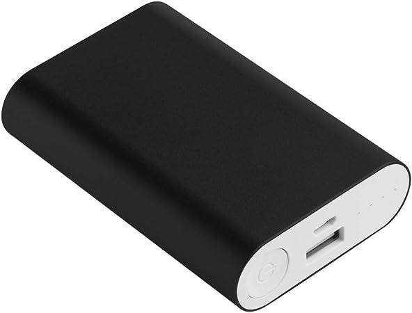 Kit de carcasa de aluminio de carga de batería de teléfono 5 V 2 A 3 x 18650, caja de cargador de batería para teléfono celular, bancos de energía para móviles negro: Amazon.es: Hogar