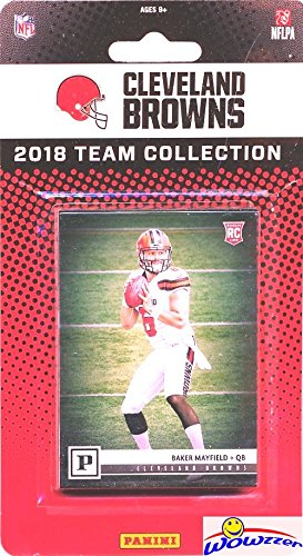 Cleveland Browns 2018 Panini NFL Football Factory Sealed Limited Edition 14 Card Complete Team Set with CANVAS Rookie of BAKER MAYFIELD & Josh Gordon,Myles Garrett, Denzal Ward RC & More! WOWZZER!