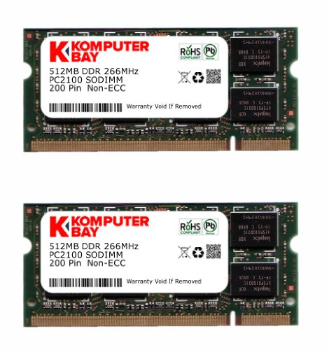 KOMPUTERBAY 1GB ( 512MB X 2 ) DDR SODIMM (200 pin) 266Mhz DDR266 PC2100 LAPTOP ()