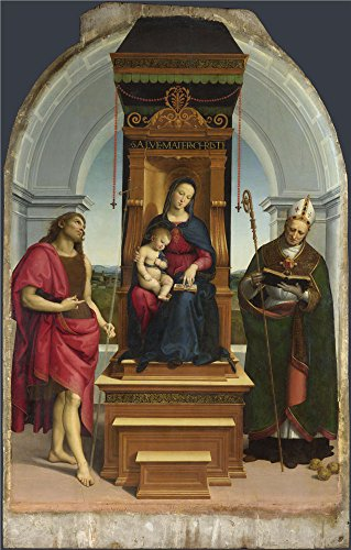 Oil Painting 'Raphael-The Ansidei Madonna,1505', 16 x 25 inch / 41 x 64 cm , on High Definition HD canvas prints is for Gifts And Bar, Gym And Home Theater - Shopping Dc Outlet Washington