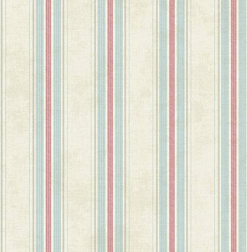 Vintage Stripe Wallpaper in Classical Primary MV80307 from Wallquest