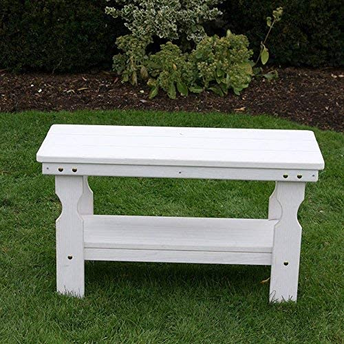 Amish Heavy Duty Pressure Treated Coffee Table Semi-Solid White Stain