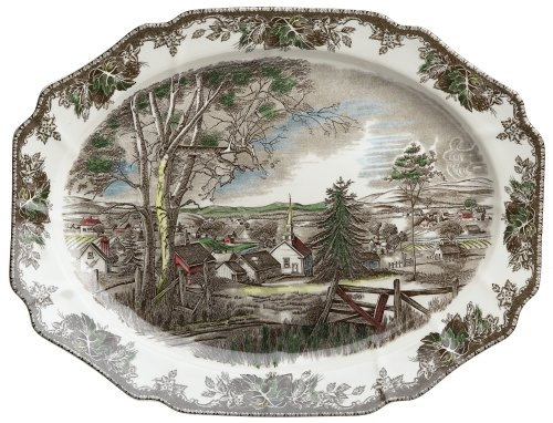 Johnson Brothers Friendly Village 19.5-Inch Turkey Platter