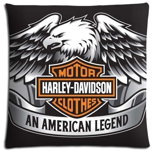HUANGXIER 18x18 inch 45x45 cm Body Pillow Shells case Cotton Polyester fits Comfort Harley Davidson