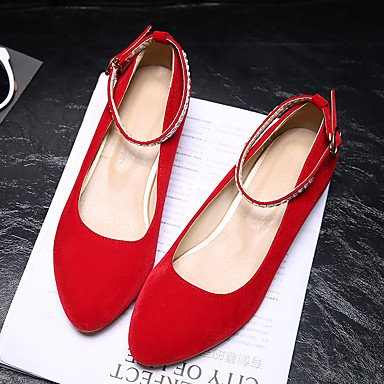 LvYuan Mujer-Tacón Bajo-Otro Confort Suelas con luz-Sandalias-Boda Exterior Oficina y Trabajo Vestido Informal-Semicuero-Negro Azul Rojo Red