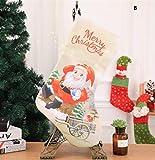 Sevenpring Creative Theme Decorations Christmas Stocking Decoration Christmas Supplies Hotel Bar Party Shopping Mall Pendant(B)