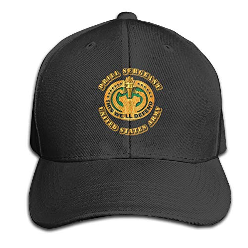 Army - Drill Sergeant Hat Men's Vintage Washed Personalized Hats ()