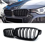 #9: F30 Grille,ABS Front Replacement Kidney Grill for 3 Series F30 F31 Gloss Black
