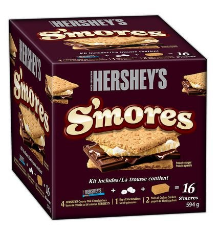 Smores Box - Hershey's S'mores Kit, Makes 16 Smore's, 594g {Imported from Canada}