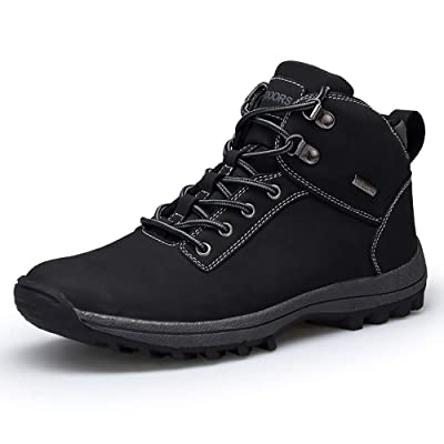 VANDIMI Hiking Boots for Men Waterproof Lace Up Ankle Booties Non Slip Outdoor Ridge Ledge Shoes | Hiking Boots