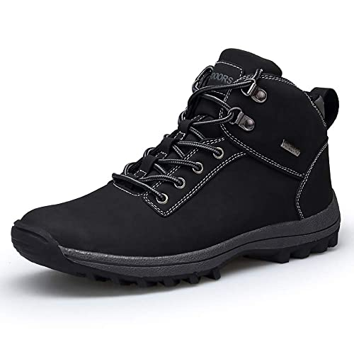 e9726be5983 VANDIMI Hiking Boots for Men Waterproof Lace Up Ankle Booties Non Slip  Outdoor Ridge Ledge Shoes