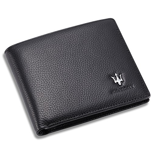 maserati-bifold-wallet-with-3-card-slots-and-id-window-genuine-leather