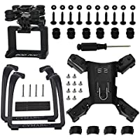 Action Camera Frame Gimbal Mount Adapter Bracket & Lengthen Landing Gear for Hubsan H501S X4 H501C Quadcopter, Black