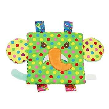 Isuper Peluche Juguetes,Felpa Juquete Colgante con Sonidos,Toalla reconfortante para bebés Sin-BPA para reconfortante Bebés Recién Nacido (Elefante): ...