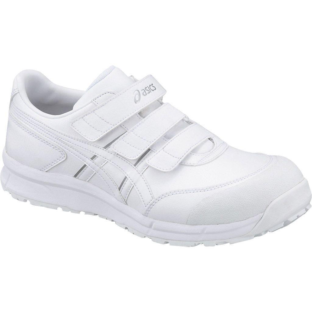 asics アシックス 安全靴 ウィンジョブ CP301 作業靴 ベルトタイプ FCP301 B079YTR1C7 ホワイト/ホワイト 25.5 cm
