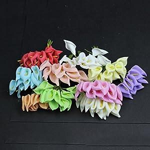144PCS Mini Artificial Calla Lily Bouquets for Bridal Wedding Home Decoration Gift Box Wrap 4