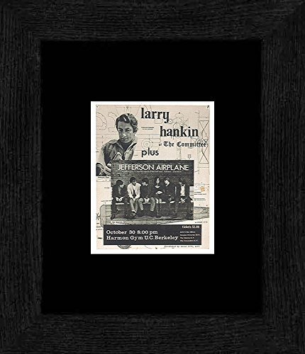 Frame Mini California (Stick It On Your Wall Larry Hankin Jefferson Airplane - University Of California Berkeley 1966 Framed Mini Poster - 20x18cm)