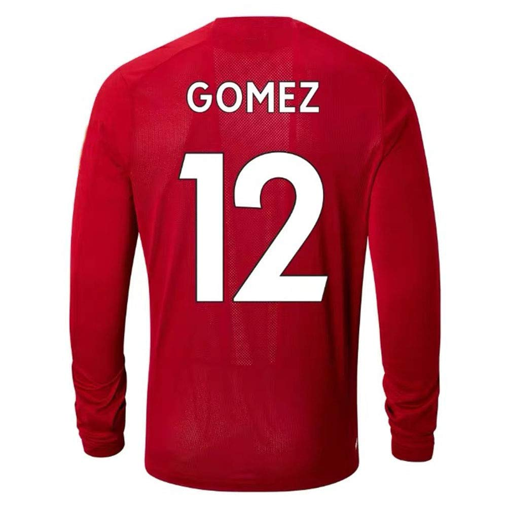 HJM Joe Gomez #12 Mens Football Sportswear Breathable Quick-Drying Long Sleeves
