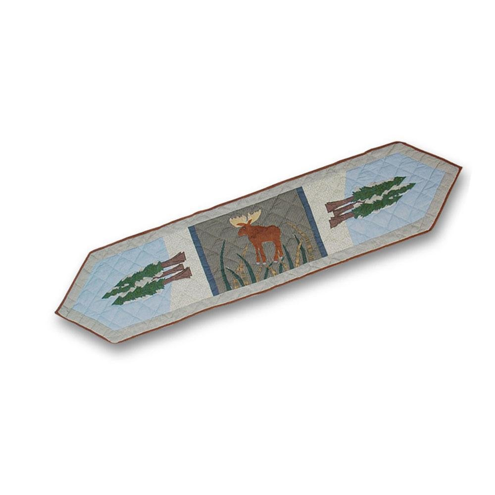 Patch Magic 72-Inch by 16-Inch Moose and Eagle Motif Table Runner TRMOOS