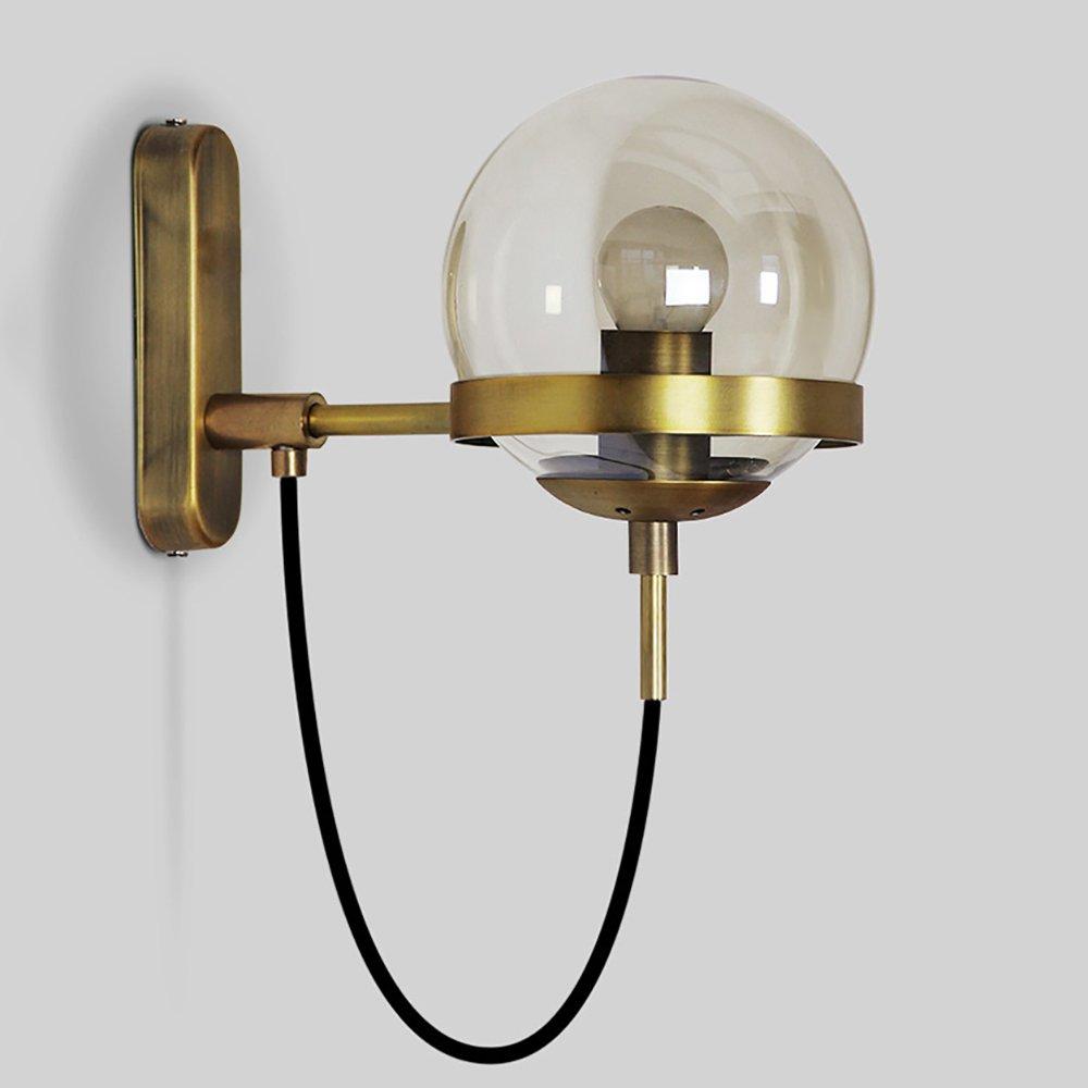 GYL BIDENG LWFB LWFB LWFB Wandleuchte Glas Eisen Europäische Nachttischlampe Wohnzimmer Arbeitszimmer Schlafzimmer Retro Wandleuchten (2 Farben erhältlich) (Farbe   B) afb3c3