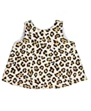 RuffleButts Infant/Toddler Girls Open Back Print Swing Top - Leopard - 18-24m