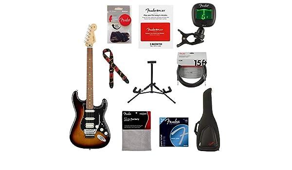 Guitarra eléctrica Fender Player Stratocaster HSS Floyd Rose, 22 trastes, cuello moderno