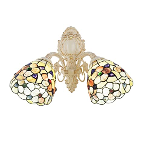 purchase cheap e9218 85b07 E26 Tiffany Style Wall Light, Stained Glass Sconce Wall ...