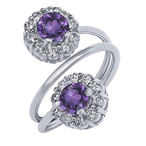 Natural Amethyst Gemstone Ring - 5