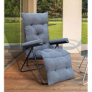Spacecrafts Steel Recliner Folding Easy Chair for Home Relax (LEC, Grey)