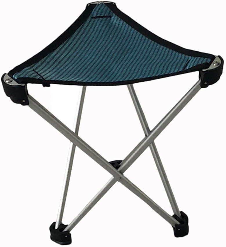 ZR Taburetes para Acampar Al Aire Libre Silla Plegable portátil de aleación de Aluminio Taburete triángulo Silla de Pesca Silla de Barbacoa pequeño Caballo Silla Plegable Amarilla (Color : Bronce)