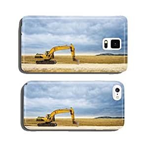 Excavators in a wide landscape on construction site cell phone cover case Samsung S6