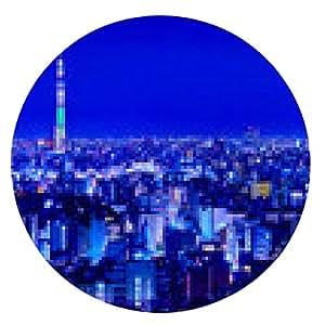 alfombrilla de ratón Vista de noche de Tokio - ronda - 20cm