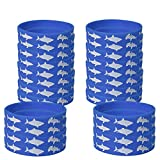 Blue Orchards Shark Kids' Wristbands (24), Shark Party Supplies, Birthday Party Handouts, Accessories