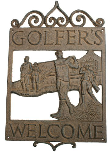 Vintage Cast Iron Welcome Sign