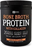 Bone Broth Protein with Collagen (Chocolate Flavor) ~ Paleo & Keto diet approved ~ For Healthy Skin, Joints & Muscles ~ Gluten, GMO & Dairy Free