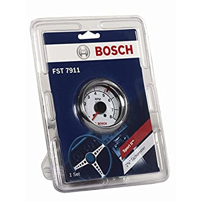 "Actron Bosch SP0F000027 Sport II 2-5/8"" Tachometer (White Dial Face, Chrome Bezel): Automotive"