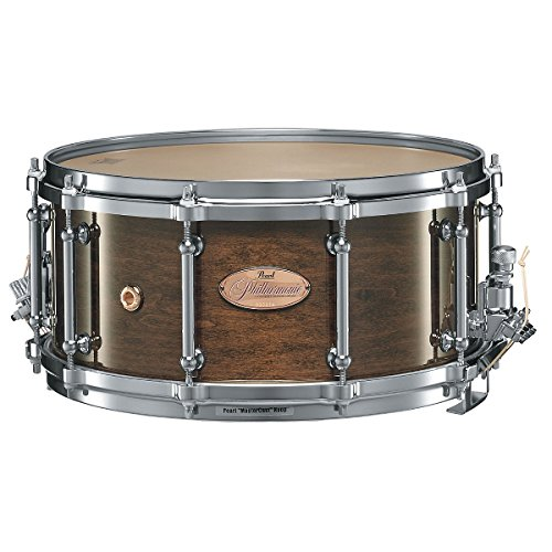 Pearl Philharmonic 6-Ply Maple Snare Drum High Gloss Walnut Bordeaux