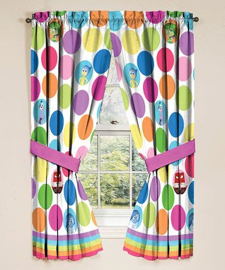 Kids Curtains (Disney Inside Out Window Panels, 42 in x 63 in panel, Made to fit 36in- 48 in)