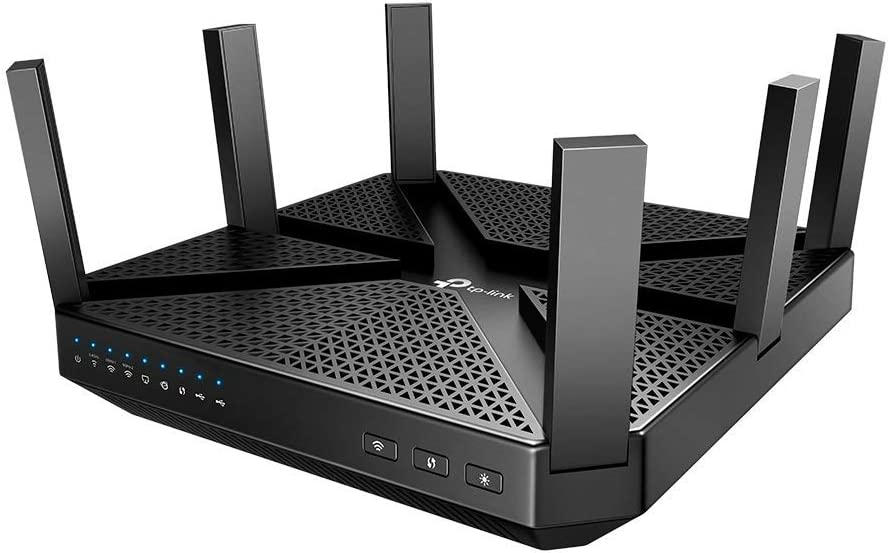TP-Link AC4000 Smart WiFi Router - Tri Band Router, MU-MIMO, VPN Server, Advanced Security by HomeCare, 1.8GHz CPU, Gigabit, Beamforming, Link Aggregation, Works with Alexa(Archer A20)