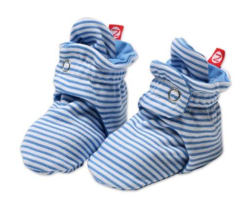 Zutano Unisex-Baby Newborn Candy Stripe Booties, Peri, 3 Months