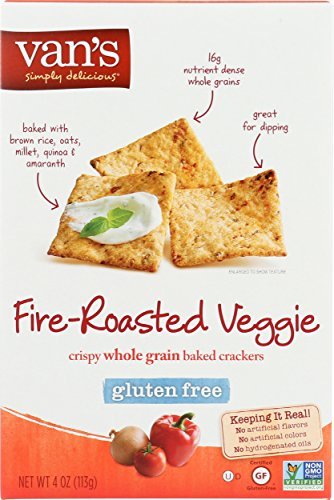 Van's Simply Delicious Gluten-Free Crackers, Fire-Roasted Veggie, 4 oz.