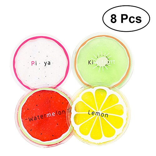 Healifty 8pcs Reusable Gel Ice Packs Fruit Cold Therapy Packs for Children and Adults