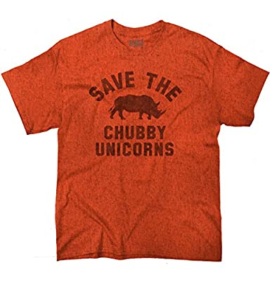 Save The Chubby Unicorns Fashion Rhino Hipster Geek Funny T-Shirt