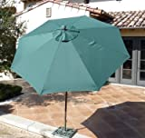Cheap 9ft aluminum 8 ribs market umbrella in Hunter Green