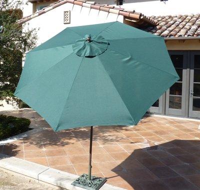 9ft aluminum 8 ribs market umbrella in Hunter Green