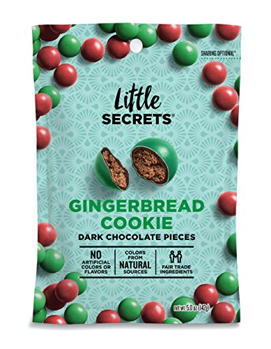 Little Secrets All Natural Fair Trade Gourmet Chocolate Candy - Gingerbread Cookie Dark Chocolate {5 oz, 1 Count} - The World's Most Unbelievably Delicious Chocolate (Fair Trade Nut)