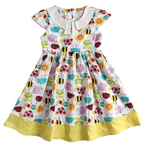 Brown Animal Pattern (Sharequeen Animals Pattern Cotton Colorful Children Dress)