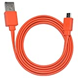 Tour Flat Charging Power Supply Cable Cord Line for JBL Wireless Speaker (Orange)
